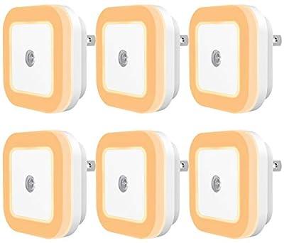 Sycee Plug-in LED Night Light with Dusk to Dawn Sensor, Warm White