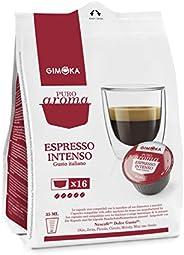 Cápsulas de Café Espresso Intenso Gimoka, Compatível Com Dolce Gusto, Contém 16 Cápsulas