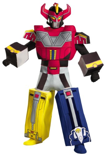 Mighty Morphin Power Ranger Costumes For Adults (Disguise Sabans Mighty Morphin Power Rangers Megazord Mens Adult Costume, Multi, X-Large/42-46)