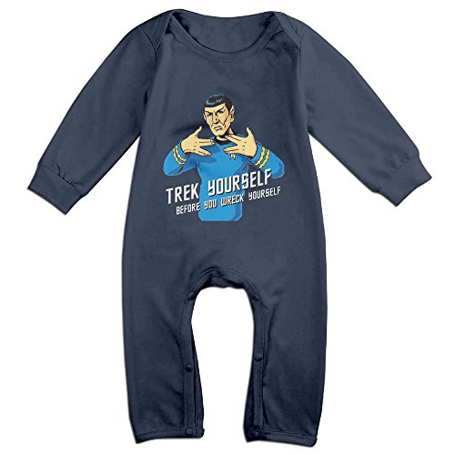 Star Trek Blue Jumpsuit - Cute Star Trek Jumpsuit For Newborn Baby Navy Size 18 Months