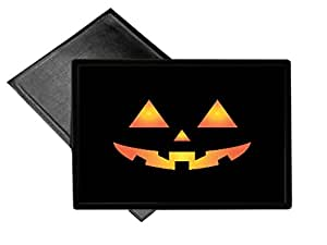 Scary Spooky Halloween Pumpkin Face Welcome Mat 18x24 Outdoor Doormat Rug by Moonlight Printing