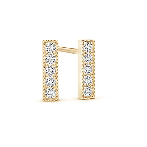 Pure Ignis Lab Grown Diamond Linear Bar Stud Earrings in 14K Yellow Gold by Pure Ignis (Image #2)