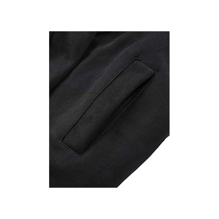 41jpOvsLLvL Gabardinas para mujer, totalmente forradas de piel sintética, carcasa de gamuza sintética, mangas largas, cierre de cinturón, traje para diario, fiesta, escuela, trabajo, compras, calle, citas, cálido y encantador El ribete de piel sintética desmontable es suave y fácil de conectar y quitar. La tela de gamuza sintética tiene cuatro lados de elasticidad y se ajustará mejor a ella. La cubierta de gamuza suave puede mantenerte abrigado y acogedor en invierno y otoño. Un cinturón en el dobladillo completa el look elegante. Poliéster
