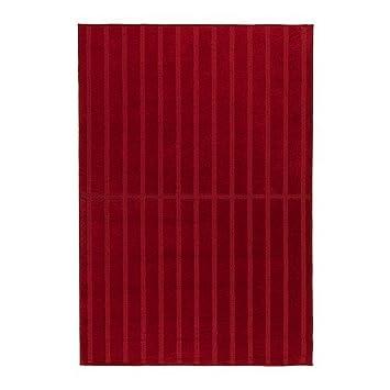 Ikea Herrup Teppich Kurzflor Rot 160x230 Cm Amazon De Kuche