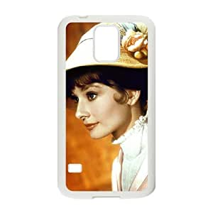 D-PAFD Customized Print Audrey Hepburn Hard Skin Case Compatible For Samsung Galaxy S5 I9600