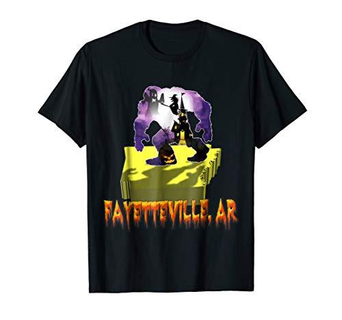 fayetteville arkansas Bigfoot halloween shirt]()