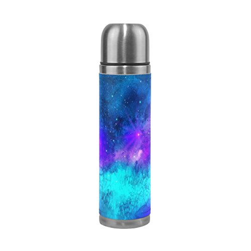 DEYYA Triangulum Galaxy Outer Space Pattern Print 17 oz Double Walled Vacuum Insulated Stainless Steel Water Bottle Vacuum Flask Travel Mug Thermos Coffee (Galaxy Travel Mug)