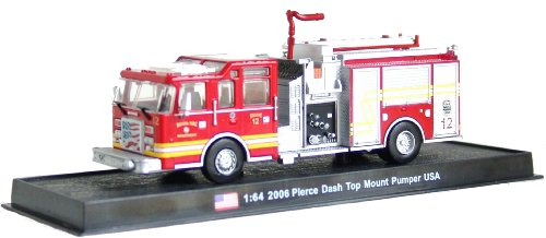 Pierce Dash Top Mount Pumper Fire Truck Diecast 1: 64Model