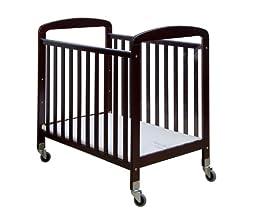 Dream On Me 2-in-1 See-Through Portable Convenience Crib, Cherry