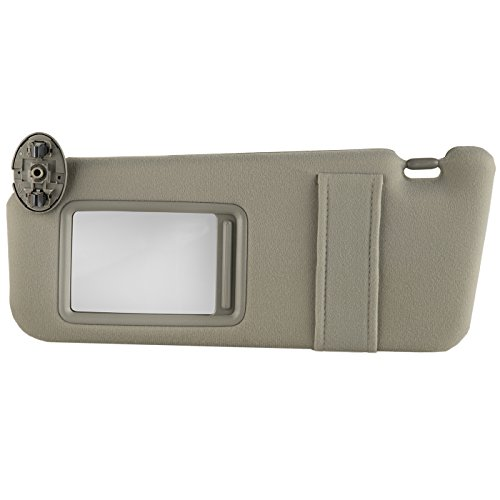 OxGord Visor Assemby with Mirror for Selected Toyota Camry Vehicles - Drivers Left Side - Replacement Part #74320-06780-B0- Beige