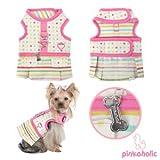 Pinkaholic New York Sprinkles Flirt Harness, Pink, Large, My Pet Supplies