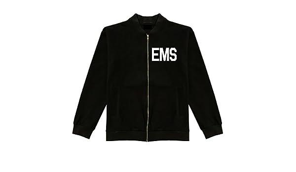 EMS Emergency Badge Classic Bomber Jacket at Amazon Men's Clothing ...
