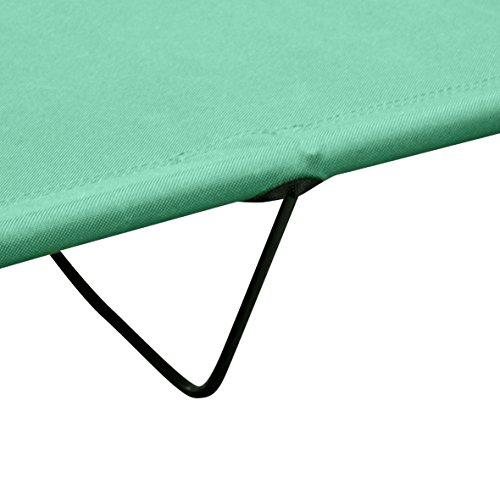 SportsCentre - Cama de campamento, 4 piernas, color verde: Amazon.es ...