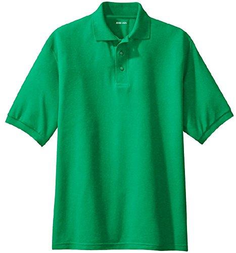 Joe's USA Men's Classic Polo Shirts - Regular X-Small (32-34) - Kelly Green