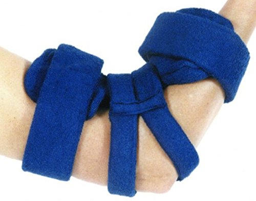 Comfy Elbow Orthosis Size: Adult, Color: Navy, Bicep Circ: 11-15, Total Length: 10 1/2 by Comfy Splints