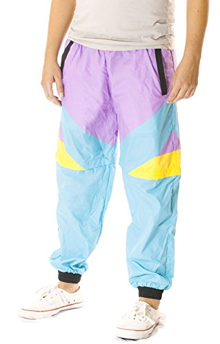 Funny Guy Mugs Gnarly Windbreaker Pants, (80s Look For Guys)