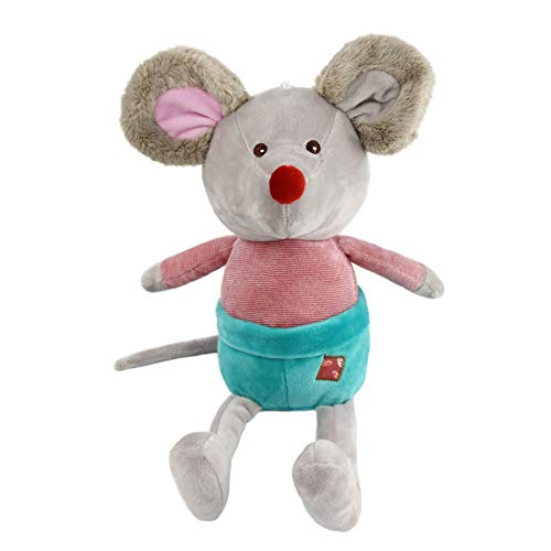 Houwsbaby Mouse Stuffed Animal Rat Plush Toy Playtime Fuzzy Gift for Kids Toddlers on Birthday, Gray, 11.8 ()