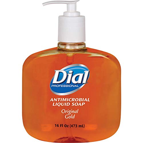 (DIA80790 Liquid Gold Antimicrobial Soap, Floral Fragrance, 16 oz Pump Bottle)