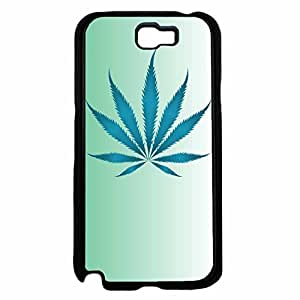 Fuzzy Weed Leaf on Blue Background TPU RUBBER SILICONE Phone Case Back Cover Samsung Galaxy Note II 2 N7100 by lolosakes