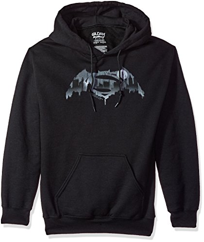 Trevco Men's Batman Vs. Superman Cityscape Logo Hoodie Sweatshirt at Gotham City Store