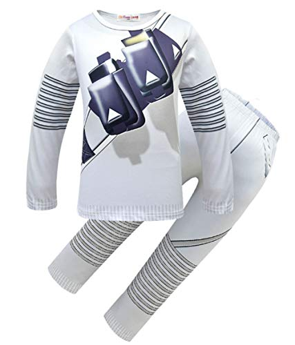 Good Halloween Music For A Party (Kids Halloween Music Fans DJ Cosply Costume Long Sleeve T Shirt Pajamas for Kids Boys(140/7-8)