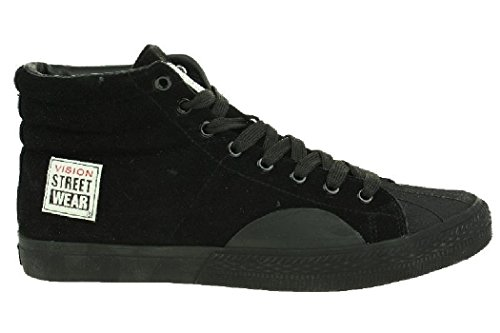 Vision Street Wear Schuhe Suede Hi Skate black + grey Black/White/Red JO783q