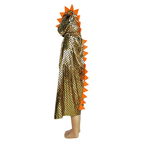 Kids Hooded Dinosaur Cape Cloak Girl Boy Animal Cosplay Halloween Party Costume -