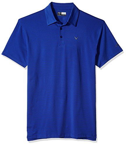 Callaway Mens Big & Tall Opti-Soft Short Sleeve Micro-Striped Polo