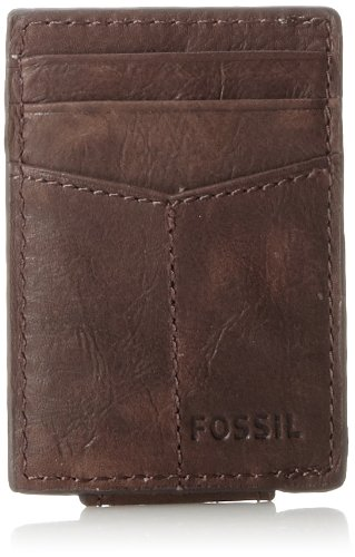 Fossil Magnetic Card Case Wallet, Brown ()