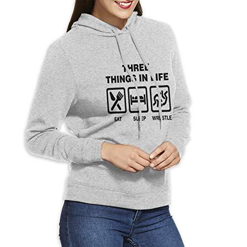 SARA NELL Womens Hoodies American Wrestling Proud Wrestler Pullover Hoodie Sweatshirts
