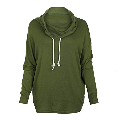 manches Zhrui grande taille avec longues vert Sweat over pull shirt couleur à femme x7qwI7PF