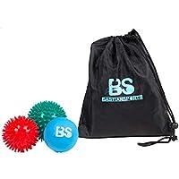 3er-Set Massageball Set mit jeweils 2 Igelbällen/Noppenbällen und 1 Lacrosseball/Faszienball - Perfekt geeignet für Selbstmassage und Triggerpunktherapie für Rücken, Unterarme, Schultern und Füßen.