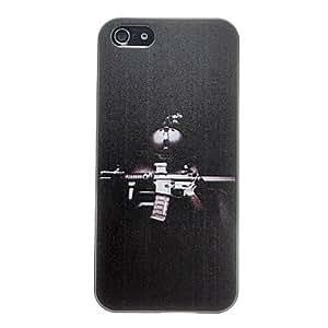 Powerful Machine Gun Pattern Anti-scratch Matte PC Hard Case for iPhone 5/5S