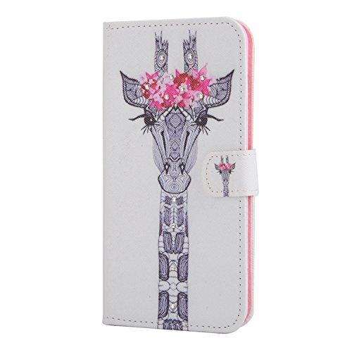 MOONCASE iPhone 6Plus Case Printing Series Leder Tasche Flip Schutzhülle Etui Case Cover Hülle Schale für Apple iPhone 6 / 6S Plus (5.5 inch) XC03
