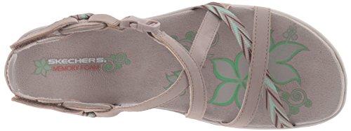 Skechers Women's Regga Slim Keep Close Gladiator Sandal Taupe KMuPUpT6U