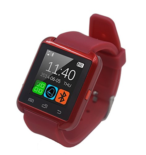 Dancotek Smart Watch with Bluetooth Activity Tracker Fitness Tracker Pedometer Sleep Monitor StopWatch (Red)
