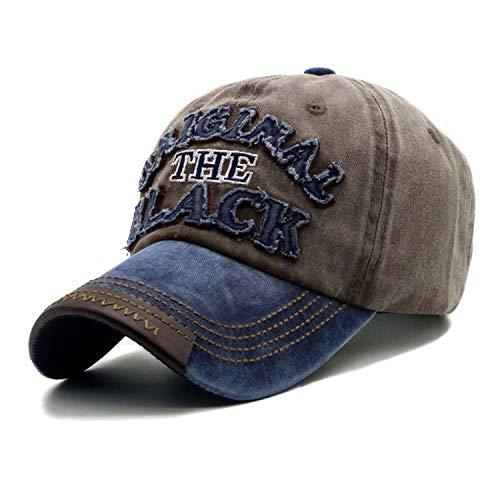 春夏 コットン 野球帽 男性 ヒップホップキャップ,褐色,調節可能な