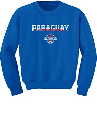 Paraguay National Soccer Team 2016 Paraguayan Fans Youth Kids Sweatshirt Large Blue ()