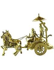 Royal Handicrafts Lord Krishna Riding Arjun Rath