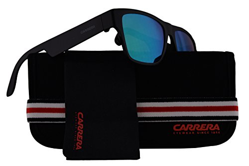 Carrera CA5002/ST Sunglasses Matte Black w/Green Multilayer Lens 55mm 0DL5Z9 CA 5002ST CA5002ST CA - Safari Sunglasses Carrera