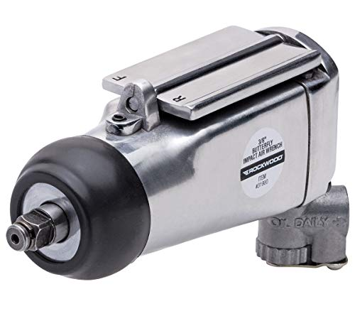 Rockwood 3/8In Butterfly Impact Air Wrench Adjustable Speed Swivel Air Inlet