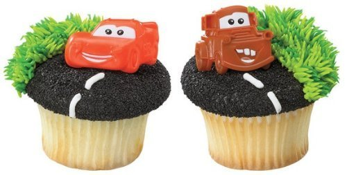 Disney Cars Mater and McQueen Cupcake Rings - 24 ct ()