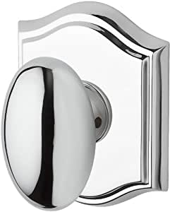 Baldwin PV.ELL.TAR Ellipse Privacy Knobset with Traditional Arch Rose, Polished Chrome
