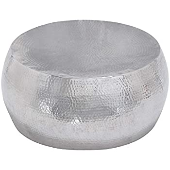 "Deco 79 23912 Aluminum N Coffee Table, 30"" x 14"""