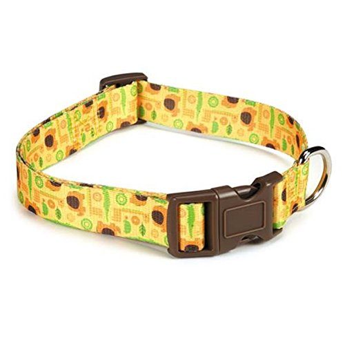 Casual Canine Jungle Bunch Collar, 18 to 26-Inch, Brown
