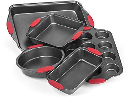 Elite Bakeware Ultra NonStick Baking Pans Set of 5 - Premium Bakeware Set