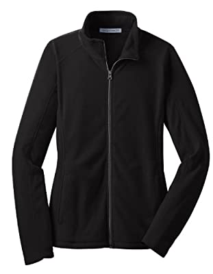 Port Authority L223 Ladies Microfleece Jacket,X-Large,Black