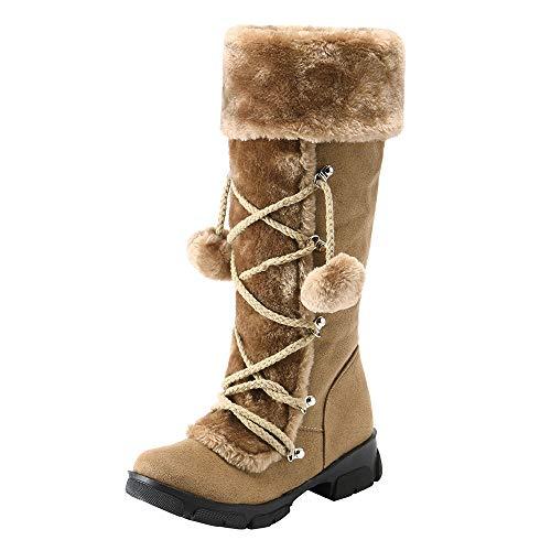 ✶HebeTop✶ Womens Winter Thermal Snow Outdoor Warm Mid Calf Waterproof Durable Boot -