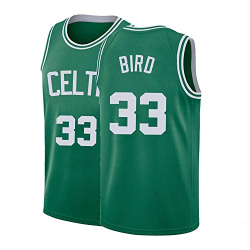 Mens Bird Jerseys 33 Adult Boston Basketball Larry Sizes Green (Medium)
