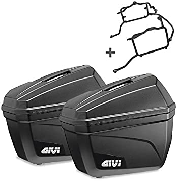 Juego de maletas laterales Set para BMW F800R 09-16 Givi Monokey E22N negro 22 litro